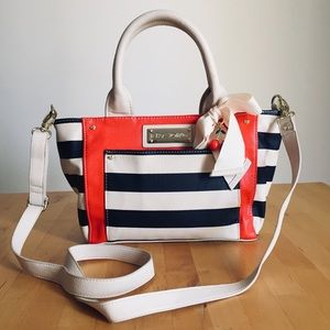 Betsey Johnson Striped Handbag